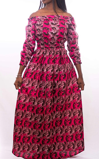 Fulani  Dress Pink