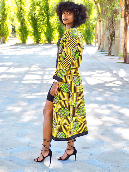 Kita Kimono Cardigan Yellow