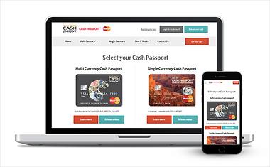 Gerenciamento do cartão Cash Passport Trade Money