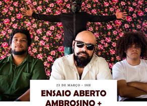 Ensaio Aberto é a nova proposta de shows que o Centro Criativo de Cultura apresenta a seu público
