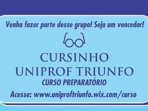 Cursinho preparatório UNIPROF Triunfo está com pré-matrículas abertas