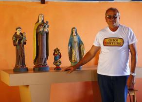 Chico Santeiro encerra o ciclo de exposições na zona rural de Triunfo