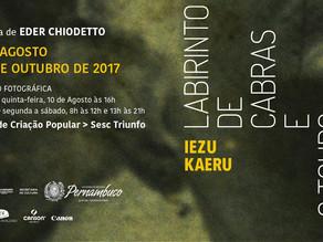 """O """"Labirinto de Cabras e o Touro de Mármore"""" do fotógrafo Iezu Kaeru inicia exposição itinerante pel"""