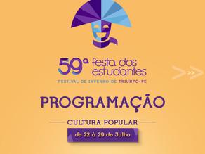 Prefeitura divulga Programação Cultural da 59ª Festa dos Estudantes