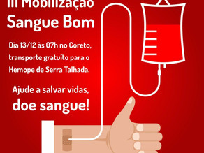 Izadora Santos convida Triunfenses para a 3ª Mobilização Sangue Bom