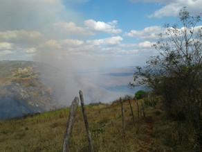 Informações sobre o incêndio que atingiu a zona rural de Triunfo esta semana
