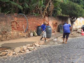 Prefeitura recupera calçadas do centro da cidade