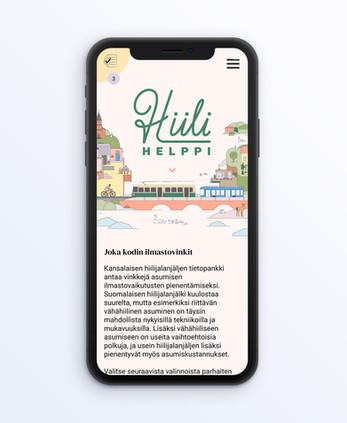 Hiilihelppi / Visual Identity & Web Design