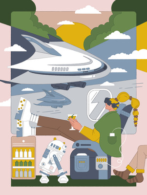 Finnair's Blue Magazine / Editorial Illustration