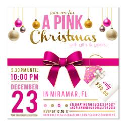 Pink Christmas Flyer