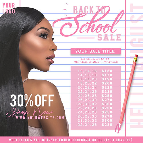 Standard Back To School Flyer Design