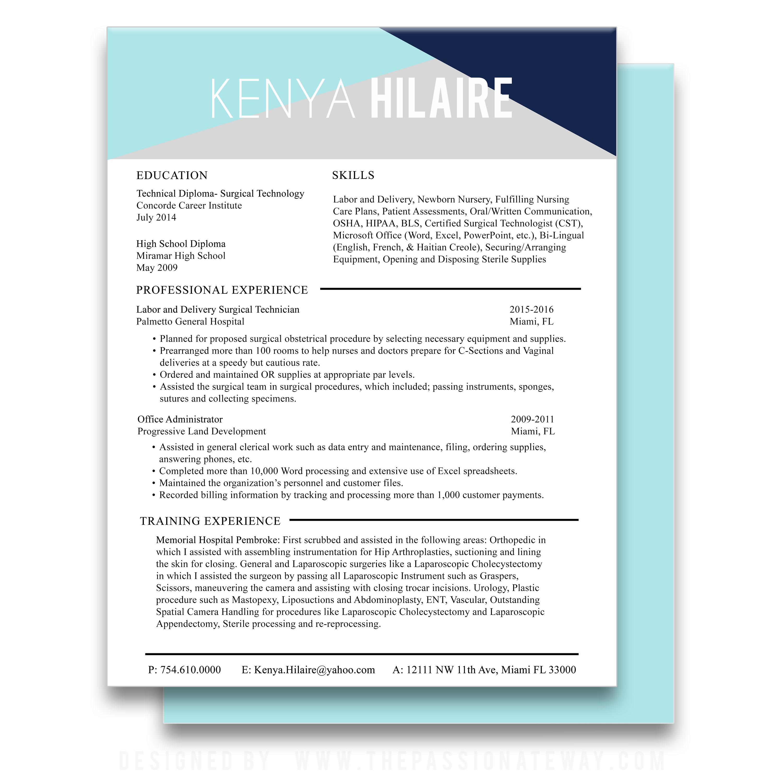 Resume Design & Print