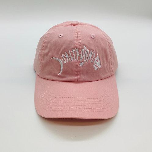 Salty Bonz Ladies Light Pink Garment Washed Cap