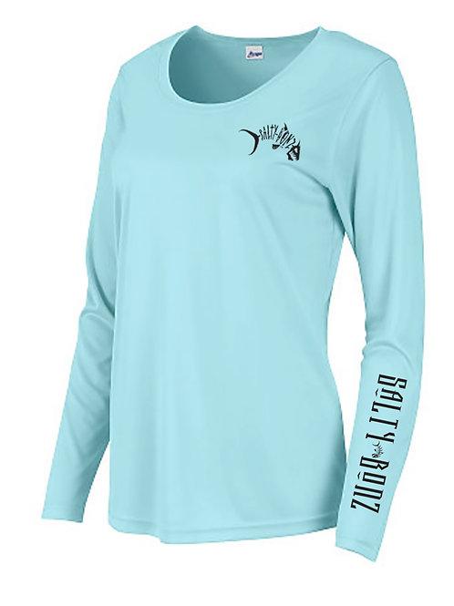 Salty Bonz Ladies Islander Long Sleeve Moisture Wicking T- Shirt with 50+ UPF