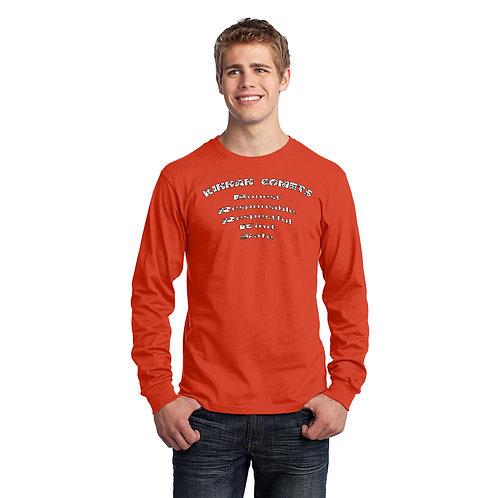 Kinnan PC54LS Adult 100% Cotton Long Sleeve T-Shirt
