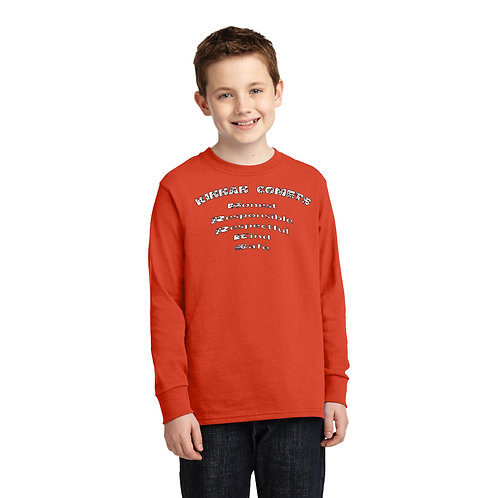 Kinnan PC54YLS 100% Cotton Long Sleeve T-Shirt