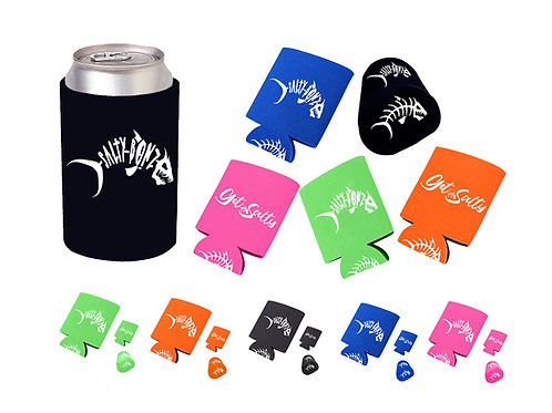 SALTY BONZ 5-Pack Can Coolers, Perfect for , Fishing, Beach & Boating