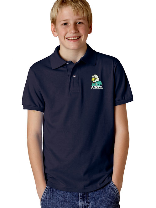 500 Abel Elementary Navy Pique Knit Polo