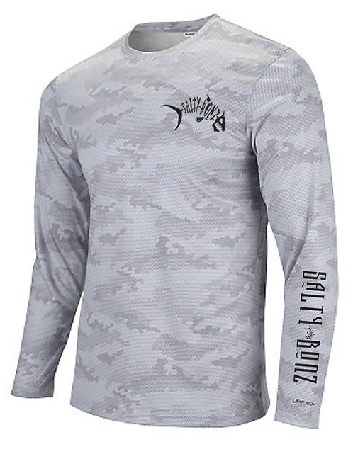 Salty Bonz Pompano Long Sleeve Moisture Wicking Tee-Available in 5 Colors