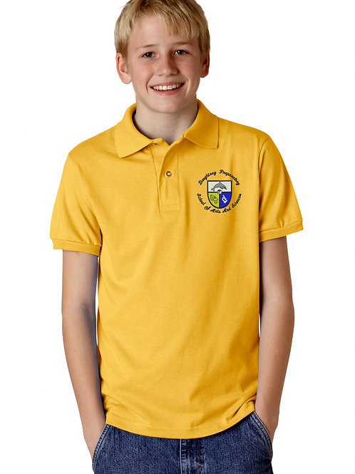 9084 Daughtrey Elementary Gold Pique Knit Polo