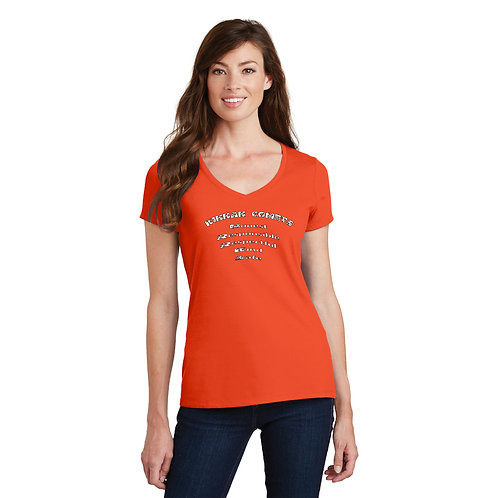 Kinnan LPC450V- Ladies Heavy Cotton™ 100% Cotton V-Neck T-Shirt