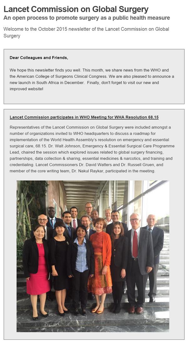 Newsletter- October 2015