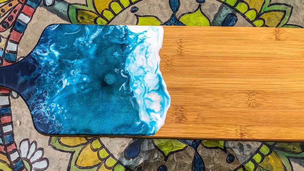 Bamboo paddle serving board