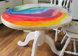 Resin Swirl Table