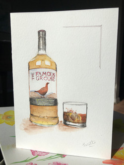 Watercolour Whiskey Card