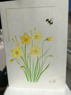 Watercolour Flower Card