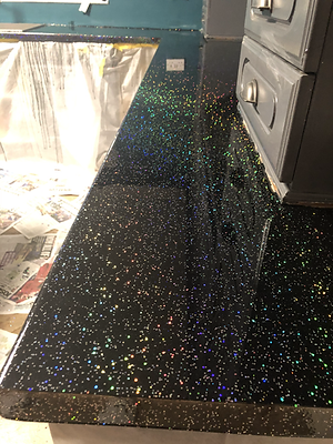 Sparkling Resin Table
