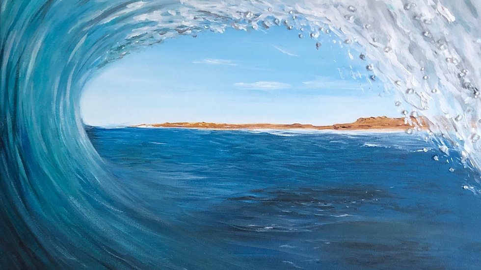 In the crest of a wave