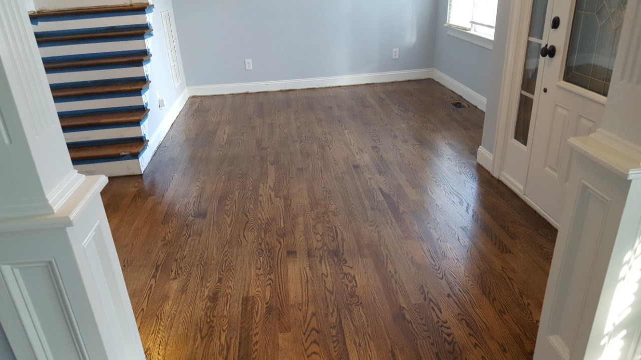 New Hardwood Flooring After