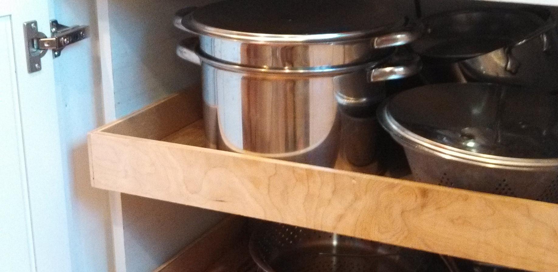 Kitchen Lower Cabinet Organizer After