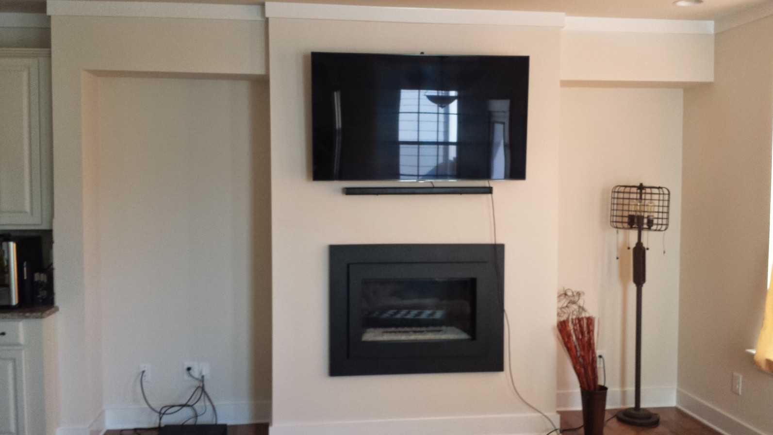 TV Fireplace Built-in B Before