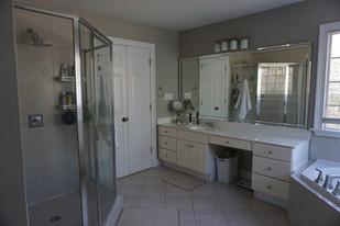 Before - Shower, Her Vanity & Tub