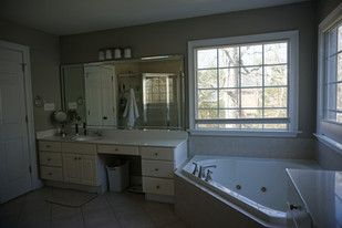 Before - Her vanity and Tub