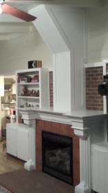 Fireplace Surround and Chimney After