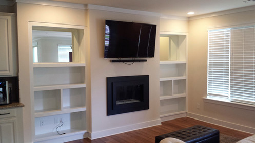 TV Fireplace Built-in B After