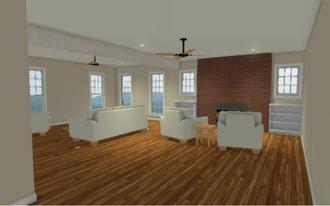 Rendering Living Room Remodel