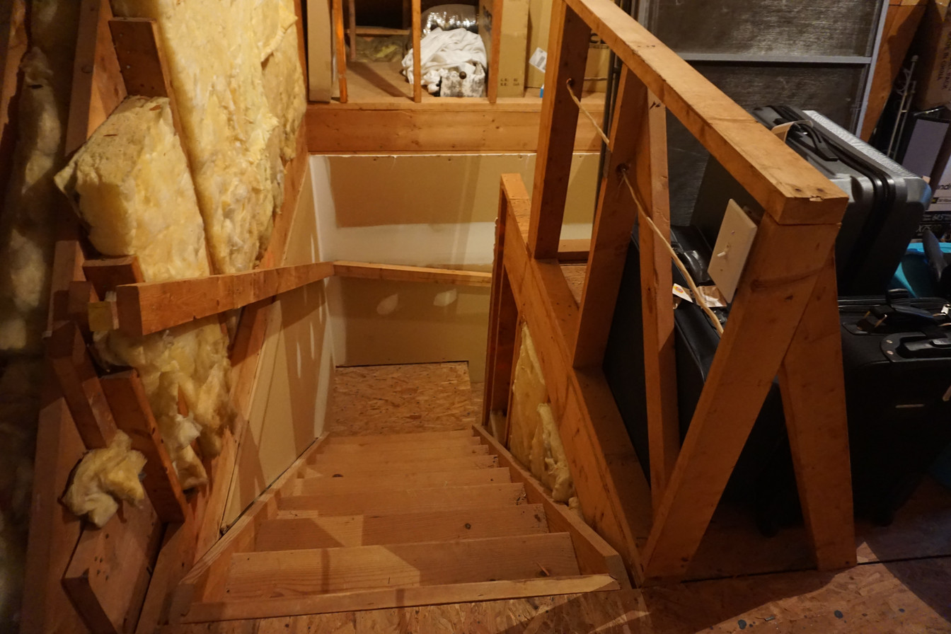 Before looking down the Stairs From the Attic