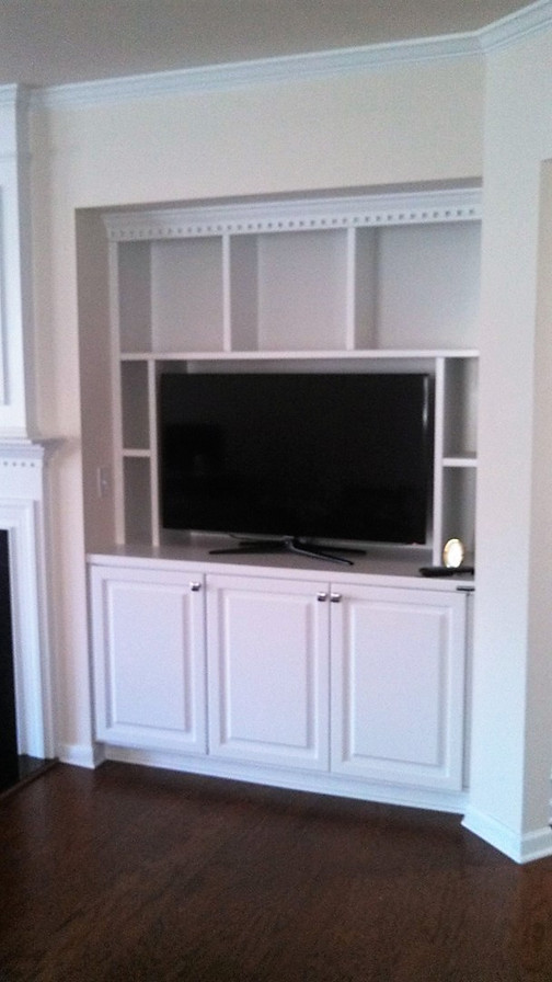 TV Nook Built-In After