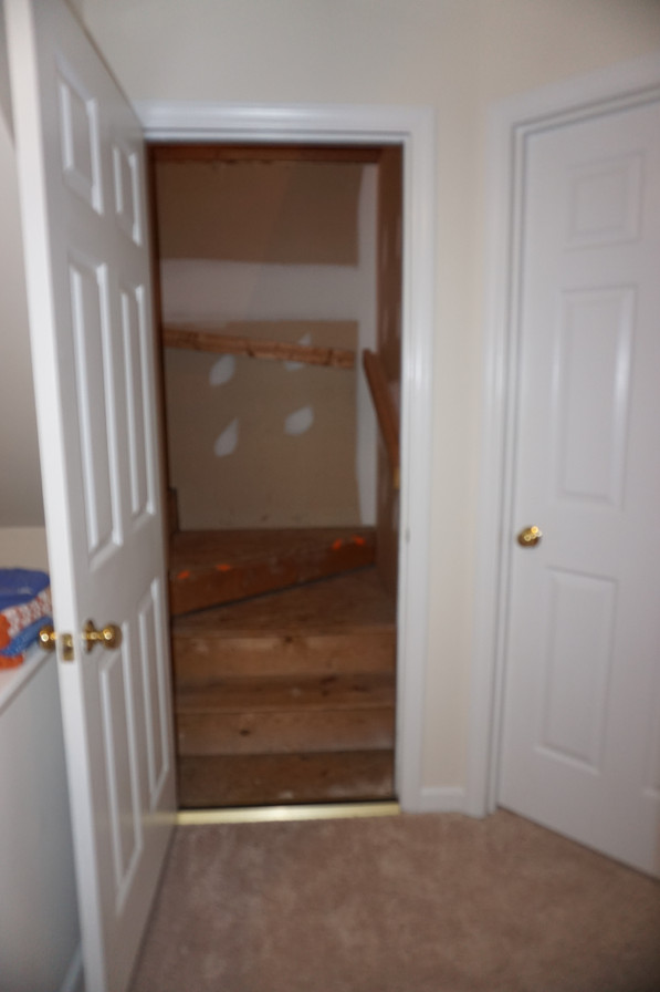 Entrance to Attic Before Remodel