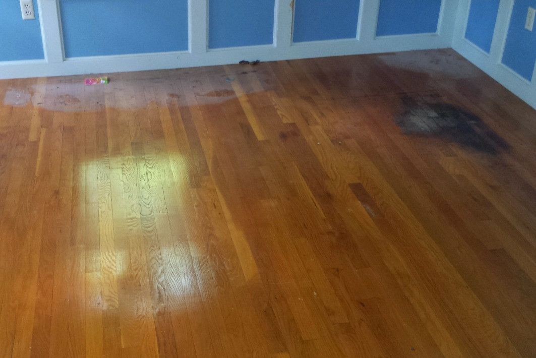 Hardwood Floor Refinish Before