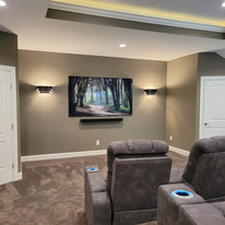 Media Room From Kitchen Side