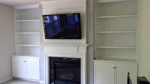 TV Fireplace Built-in A After