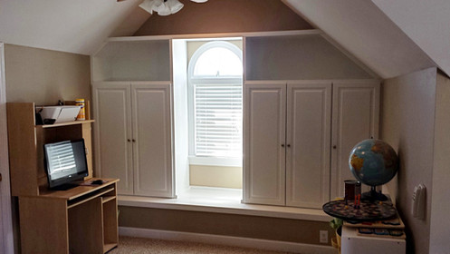 Window Seat Built-ins After