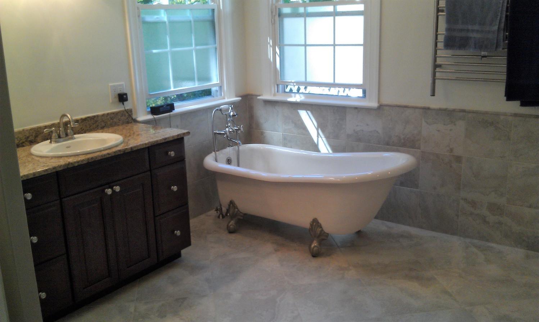 Master Bathroom Remodel B Tub After