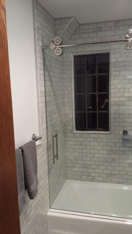 Window in tiled shower