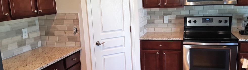 Backsplash Pantry Cabinets After